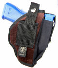 GENUINE SUEDE LEATHER USA MADE CLIP ON BELT SLIDE HOLSTER for BERETTA 9000S