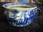 LARGE Victoria IRONSTONE FLOW BLUE CHAMBER POT COLONIAL Theme