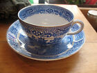 ANTIQUE NEW WHARF WILLOW TEA CUP AND SAUCER  BURSLEM ENGLAND