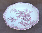 French Faience Red Transferware Large Bath Water Wash Bowl Basin St Amand 1890