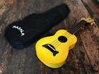 Makala Yellow Burst Soprano Ukulele Uke Fitted Aquila Strings  Free Case