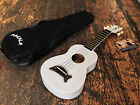 Makala Pearl White Soprano Ukulele Uke With Free Case Fitted With Aquila Strings