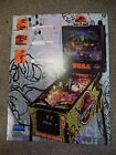 SEGA The Lost World Jurassic Park Pinball Game Advertising Flyer