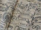 PARIS French Country PRINTED BURLAP Fabric - By the Yard - Low Ship  Chic Shabby