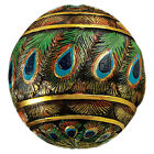Design Toscano Peacock Feathered Orbs Decorative Accent Balls Sculpture Set of 3