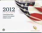 2012 US Mint Annual Uncirculated Dollar 6 Coin Set w Burnished W Silver Eagle