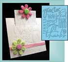 THANKS Universal Embossing Folder by Provocraft Cuttlebug All Occasion