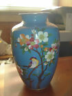 Antique Japanese Silver Cloisonne Vase