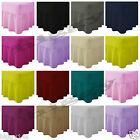 Plain Dyed Fitted Valance Sheet Poly-Cotton Bed Sheet Single Double King S.King