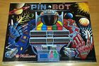 RARE 1986 PIN-BOT WILLIAMS ORIGINAL PINBALL MACHINE TRANSLITE! GREAT CONDITION!