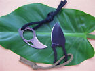 New Knife Cute Full Steel Finger Hole Bear Claw & fix blade Fishing Tool  gifts