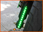Bright Universal Green LED Stick-on Strips DRL For Sym Jet BasiX Euro X Mask 50