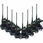 8pcs Walkie Talkie Zastone ZT-V8A+ 5W 128CH UHF+VHF Monitor LCD Two-Way Radio
