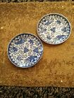 Vintage Made In Japan Blue White Saucers Beautiiful Hand Painted