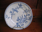 ANTIQUE ENGLISH PLATE CIRCA LATE 1800   BLUE AND WHITE  BIRD APPLE BLOSSOM