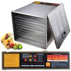 Commercial 10 Tray Stainless Steel Food Dehydrator Fruit Meat Jerky Dryer Blower