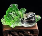 Feng Shui Liu Li Cabbage Crystal Vegetable Stand Decor Abundance wealth Luck