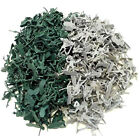 72 pc - Army Men Toy Soldiers Military Gray Green Plastic Figurine Action Figure