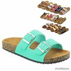 New Women Birken Style Summer Two Strap Thong Foodbed Cork Flat Flip Flop Sandal