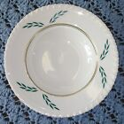 Coronation by Hanover China Single Coup Soup Bowl Green Gold Leaf 607