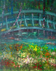 Giverny France Waterlilies 14x11in. Original Oil on canvas Hall Groat Sr.