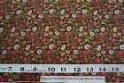 1800s reproduction cotton fabric-Red Roosters HISTORICAL MEMORIES 4 yards