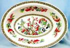 Johnson Brothers Indian Tree Vegetable Bowl Oval Serving Green Key Cream Vintage