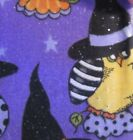 NEW 2 yards of Halloween fabric purple glitter owl in witch hat 2014 Patty Reed