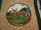 VIP Cranston Print Works Whitetail deer 4 panels pillow quilt wall hanging