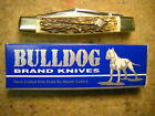 Vintage Bulldog Germany Stockman Knife flawless India Stag 1st Generation