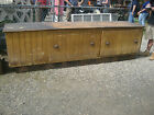 c1850-0 country store COUNTER GORGEOUS grain paint MASSIVE drawers 9' 11