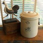 HUGE!! 8 Gallon Western Stoneware Co. Crock with Lid! Lid is cracked
