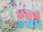 60 Felt Rabbit Applique+Wiggly Eyes/Easter Bunny/Craft/pink/blue/white/Baby H52
