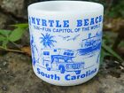 Vintage Myrtle Beach South Carolina Federal Milk Glass Mug 1960's