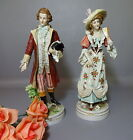 Pair 19 Century Dresden Meissen German Porcelain Victorian Man & Woman Figurines