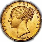 1846 Victoria Great Britain Gold Sovereign Coin PCGS MS65