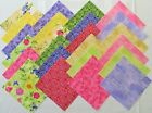 5 Fabric Quilt Squares Beautiful BLOCK PARTY Fabri Quilt  3413