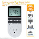 LCD 7 Day 12/24 Hour Programmable Digital Timer Socket Switch Plug-IN US plug