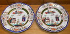 Pair Of Antique MASON'S Ironstone China Plates - CHIPPED - 10 1/4