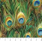 Northcott Peacock Paradise 20097M 62 Peacock Feather Metallic BTY Cotton Fabric