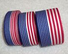 USA Flag Ribbon 100 Polyester Patriotic Trim 3 sizes Your Choice July 4th
