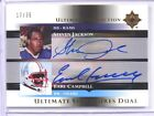 2005 Ultimate Collection Steve Jackson & Earl Campbell auto autograph #D17 35 *3