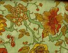 "Bloomcraft Screen Print Fabric Jacobean Flower Tree Green/Yellow 54"" x 4 yds"