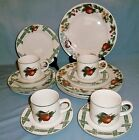 Lot of 16 pc Cades Cove Collection Dinnerware-Citation-4 pc Service for 4-Apples
