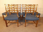 Baker Furniture Company Set of 6 Mahogany Chippendale Ladderback Dining Chairs