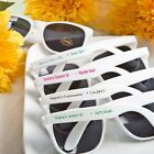 100 Personalized White Sunglasses Wedding Shower Party Favors