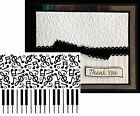 Embossing Folder Music PIANO NOTES Darice 1219 130 NEW Cuttlebug Compatible A2