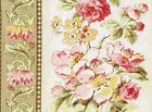 Red Rooster AtticTreasures #24084 Beige QUILT FABRIC Floral Stripe - 2 pcs = 2yd