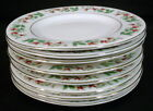 Service for 8 Gibson CHRISTMAS CHARM China Dessert Plates