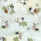 100 % cotton fabric quilting Winter Celebration 25198 mul1 Red Rooster  bty